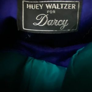 Vintage Dresses - VTG Huey Waltzer for Darcy Colorblock Dress 2/4